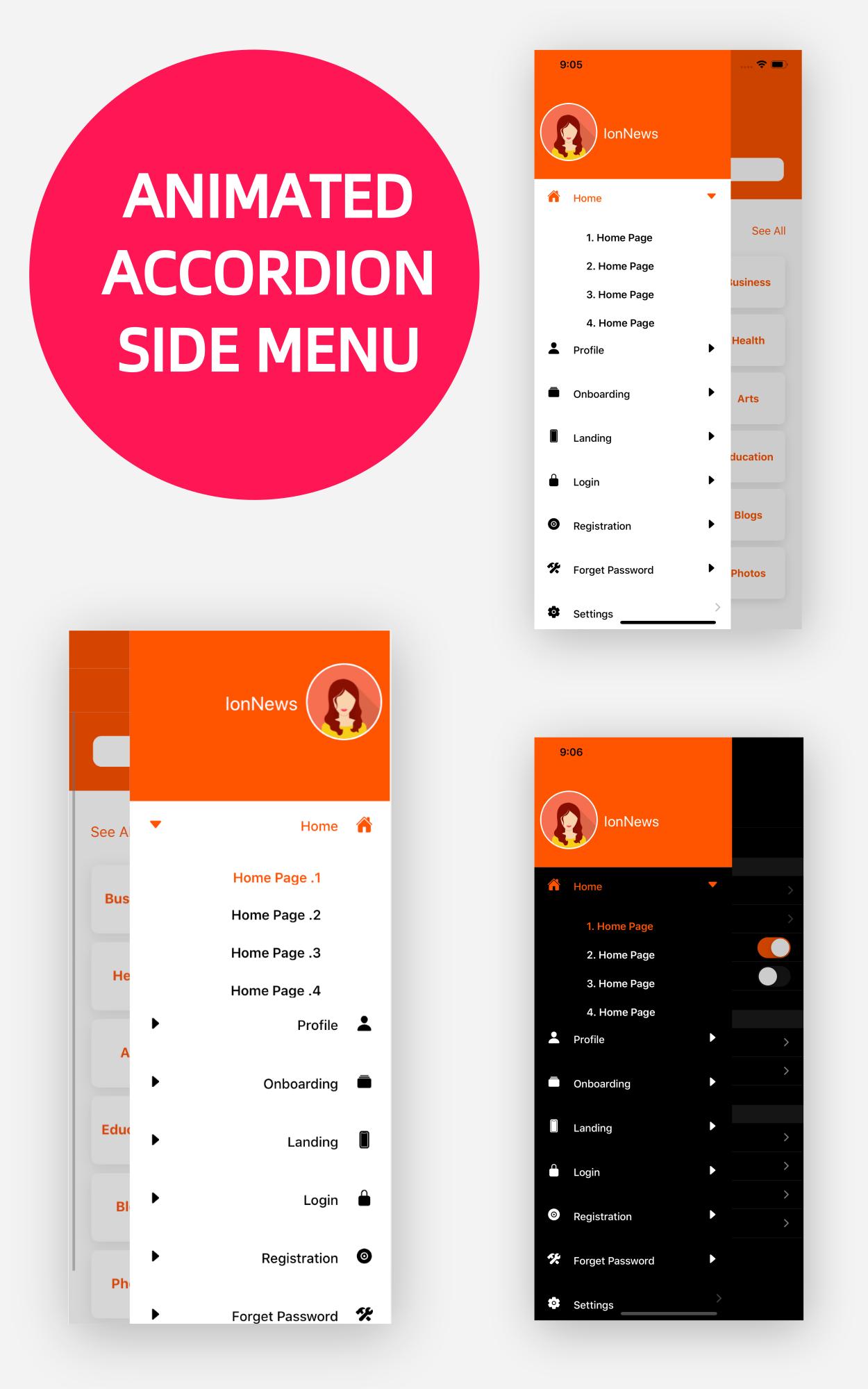 IonPose - Multipurpose Ionic5 App (RTL + Dark Mode + 15 Theme Colors + Multi-Language Support) - 15