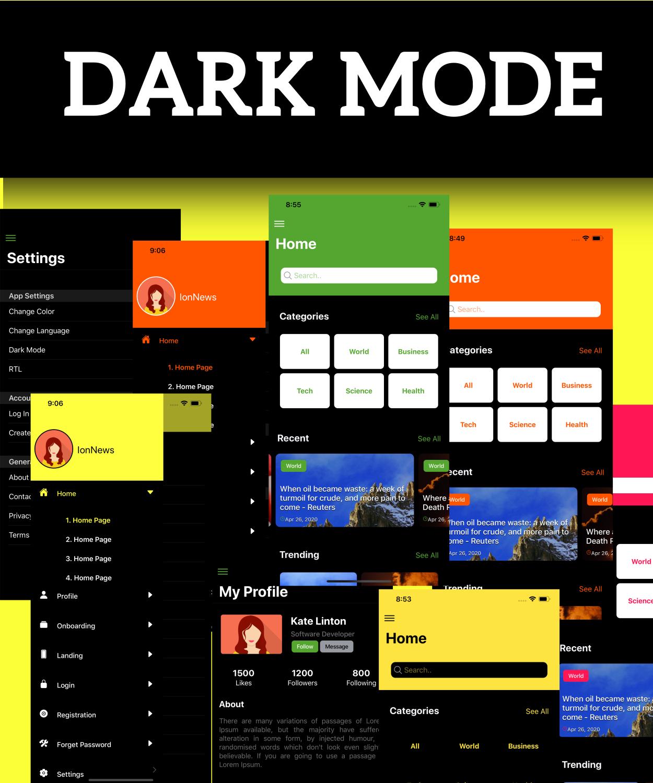 IonPose - Multipurpose Ionic5 App (RTL + Dark Mode + 15 Theme Colors + Multi-Language Support) - 7