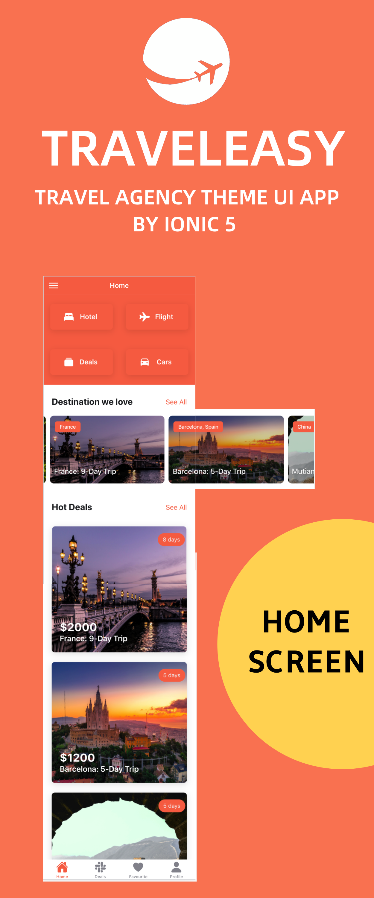 TravelEasy - A Travel Agency Theme UI App By Ionic 5 (Car, Hotel, Flight Booking) - 4